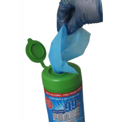 Disinfectant & Probe Wipes in Fully Detectable Container
