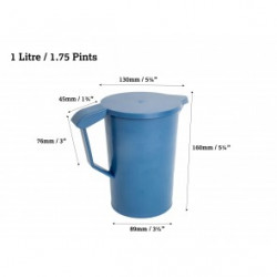 Detectable 1 Litre Jug with Lid