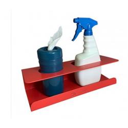 Detectable Spray Bottle and Wipe Dispenser Holder